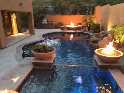 Stunning 3B Scottsdale Mtn home with private pool/spa, fire pit, BBQ