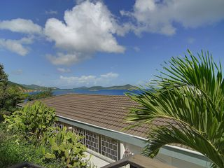 East End villa photo - View of Casa Azure from Parking Area and Islands Beyond!