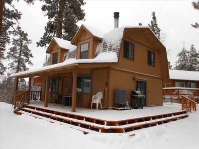 Moonridge house rental - A retreat from city living. Lots of wood, inside and out. 3 comfy bedrooms.