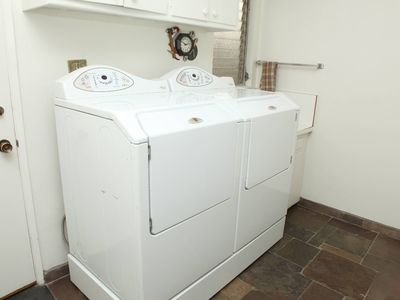 Large capacity washer and dryer.