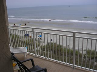 Crescent Beach condo photo - One side of Balcony