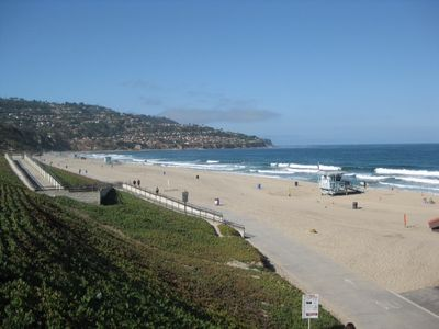 Redondo Beach with view of Palos Verdes Peninsula