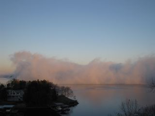 Osage Beach condo photo - Fog on the water when it was clearing.
