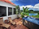 Courtyard and spa - Coral Bay villa vacation rental photo
