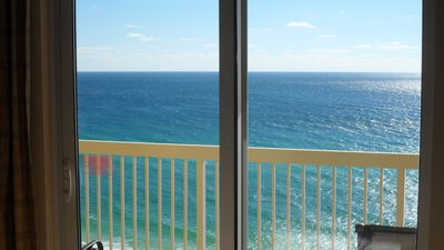 Master bedroom view of aqua waters & sea life. Listen to the waves lap to shore!