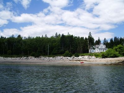 Sand Cove Cottage and Sand Beach from the water