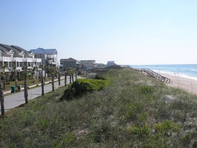 The unit, 320, is 3rd from the end on the left.  Great beach access and private.