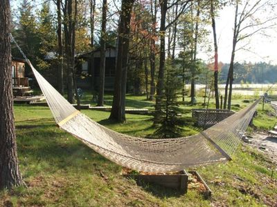 Gaylord cottage rental - Rest In The Hammock Overlooking The Water....
