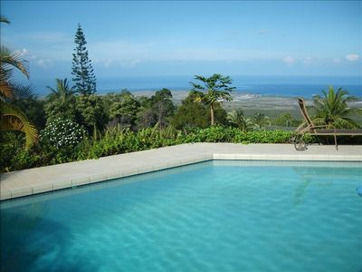 Kailua Kona house rental - Take a Swim in our Heated, Salt-water Pool while enjoying Infinite Ocean Views