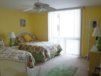 3RD BEDROOM WITH VIEW OF THE GULF & BEACH