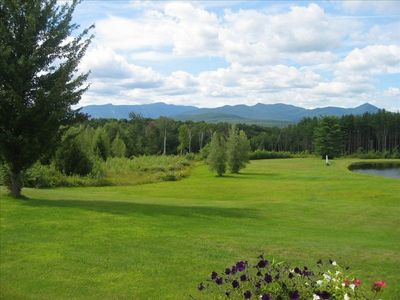 View out of Master Bedroom - rolling meadows and Mt Mansfield