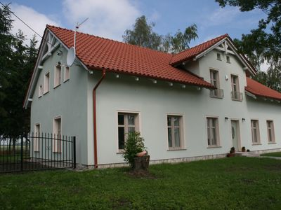 House, dating XIX century, with the garden, sauna& jacuzzi, old polish village