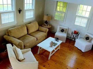 Surfside Nantucket property rental photo - Sunny and open living area.