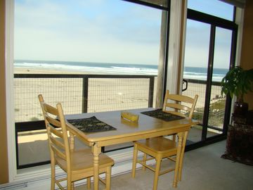 Pajaro Dunes condo rental - Sit inside or out to enjoy your morning coffee!