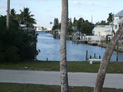 Canal in front of the House with Boat Launch Area