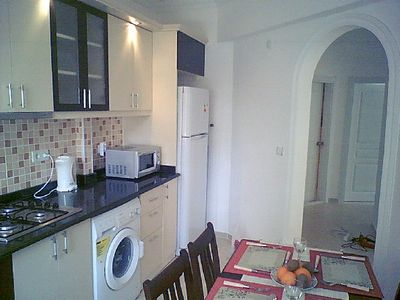 Lovely two bed apartment with full size pool near to beach.