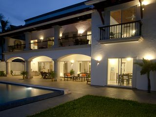Cancun house photo - .Night shot of terrace and pool area
