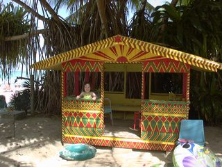 Negril cottage photo - shady playhouse & swing set for kids