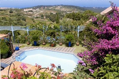 Villa With Private Garden And Swimming Pool And Stunning Views Over The Valley To The Sea