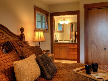 Enjoy the privacy and comfort of your master suite and bath with walk-in shower