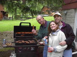 Waupaca house photo - The grills never cool off!