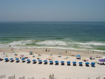 View of Beach and Beach Chair Rentals from Condo