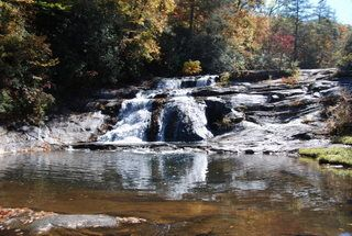 Lake Glenville house photo - Waterfall in autumn