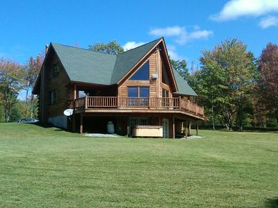 Belleayre Mountain cabin rental - Beautiful Summer Day at Cabin. Lots of lawn area for play