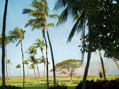 The View from our Lanai -- Ocean and West Maui Mountains