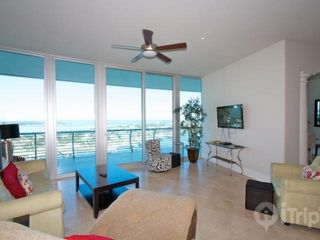 "Orange Beach condo photo - living room with 41"" flat screen TV"