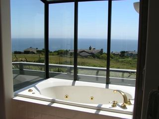 Bodega Bay house photo - Master Suite Jetted Tub with Incredible Ocean View
