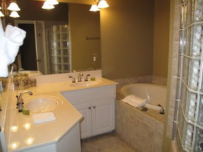 1st master bath with separate shower and tub!
