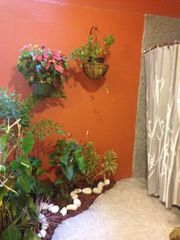 San Juan villa photo - Bathroom Garden Area, Open Air Shower