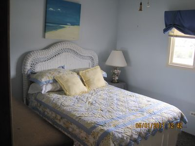 Michigan City house rental - quest bed room bigger than than the photo