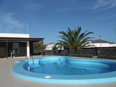 Beautiful villa with private pool on Lanzarote and ocean views