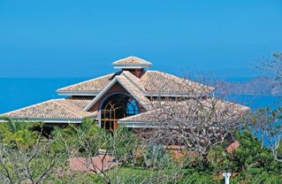 Playa Hermosa house photo - House at top of hill overlooking beach, ocean, volcanoes