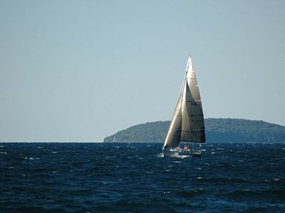 Sailing on Grand Traverse Bay, WaterSport Rentals available nearby.