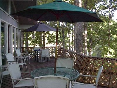 Beaver Lake house rental - Large Deck Lost in Nature