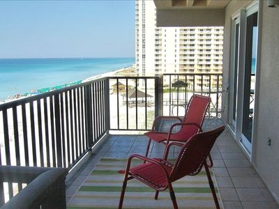 Best view in Destin from this end unit balcony. View the sunset!!