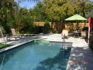 Old Naples house photo - The Pool, Patio, and Tropical Landscaping