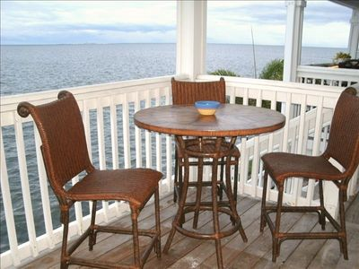 Deck overlooking Tampa Bay.