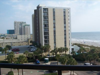 Panoramic View fro Balcony of Beach & Strip.