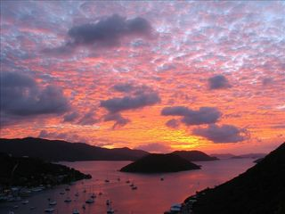 Tortola villa photo - Spectacular sunset over Sopers' Hole