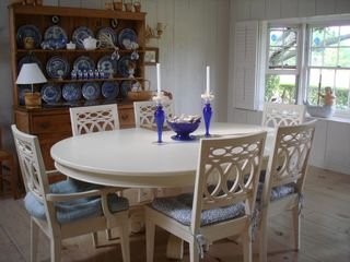 Cliff house photo - Dining room with antique pine hutch