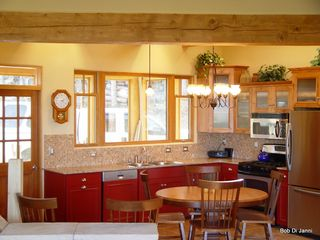 Angel Fire house photo - Lively Kitchen adjoins Sun Porch