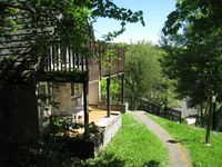 Alpine style lodge On-site swimming pool, etc in Cornwalls Tamar Valley