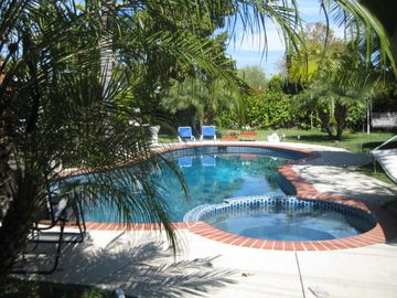 Tustin house rental - The highlight of our home is the pool and jacuzzi