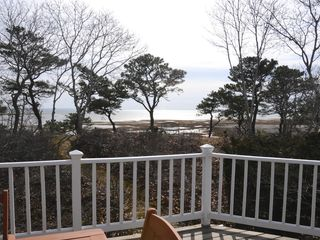 Wellfleet house photo - Another view of the water from the wrap around deck.
