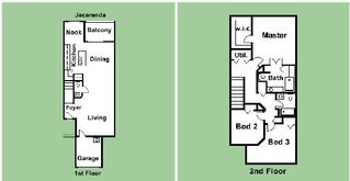 Oakwater townhome photo - Get to know where you are going to stay - this is the floor plan