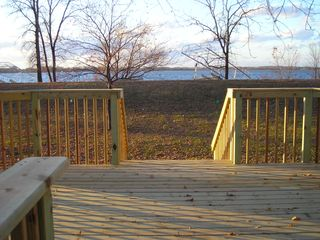 Howard Lake cabin photo - View from front deck